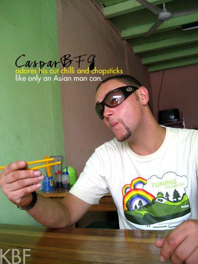 Caspar + His Chopsticks