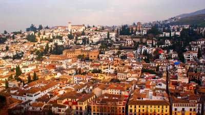 granada view from alhambra palace