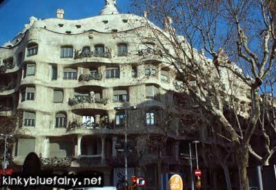 casa mila by gaudi, barcelona
