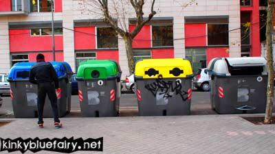 recycling bins, spain