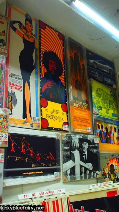 poster shop, barcelona