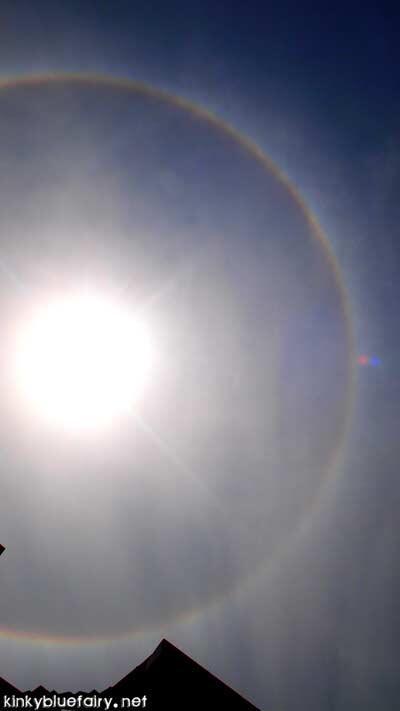 rainbow sun corona