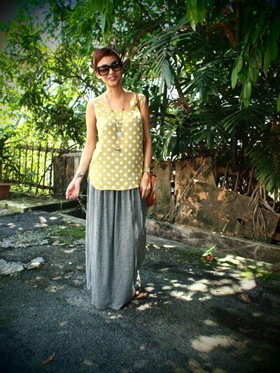 zara long skirt