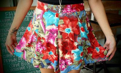 Leftblock floral shorts