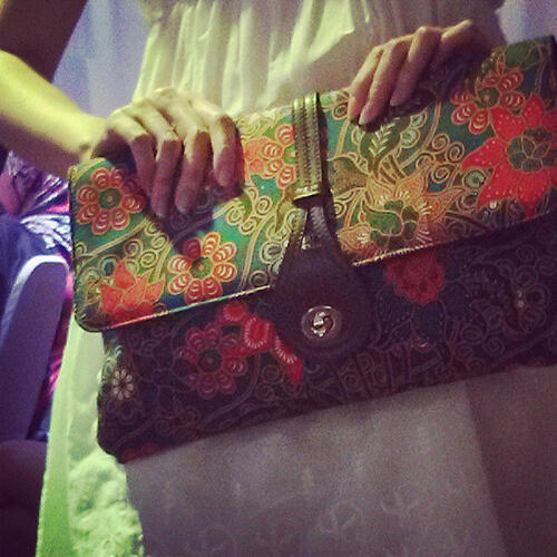 batik clutch from sakura malaysia