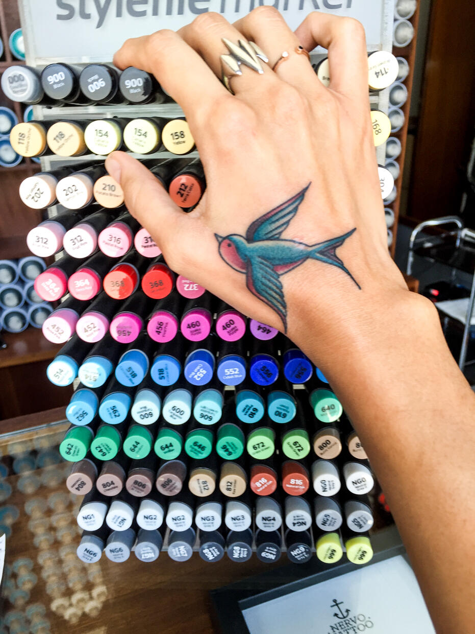 Porto Nervo Tattoo Swallow 3
