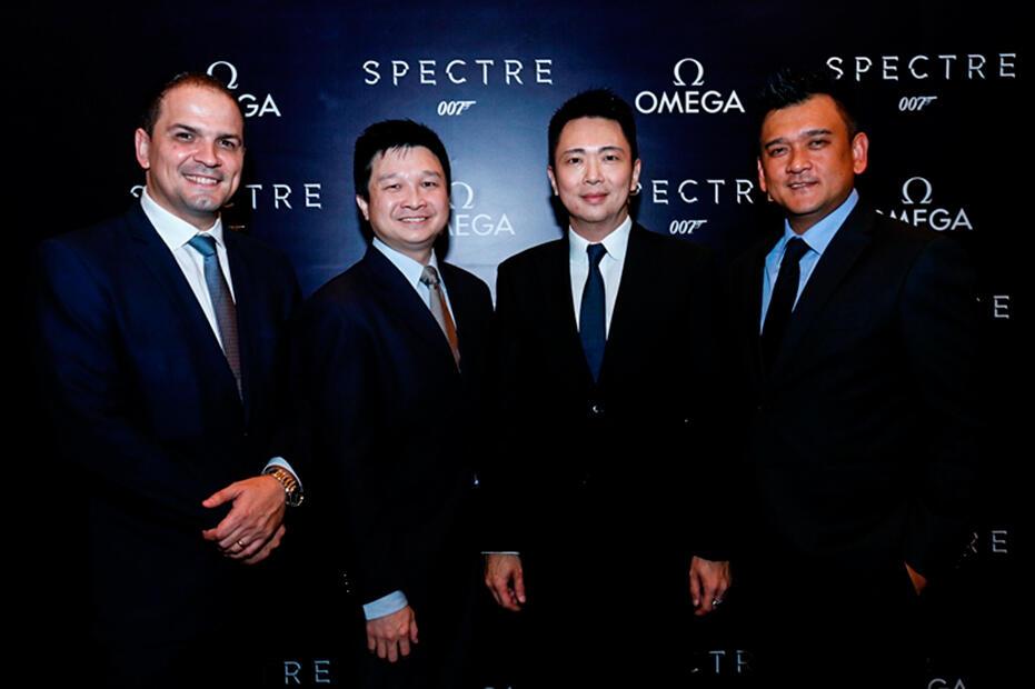 Omega-Bond-Spectre-Dinner-at-Grand-Hyatt-KL-Jose De Cardoso, SK Teh, Lovell Ho, Joseph A. Boudville