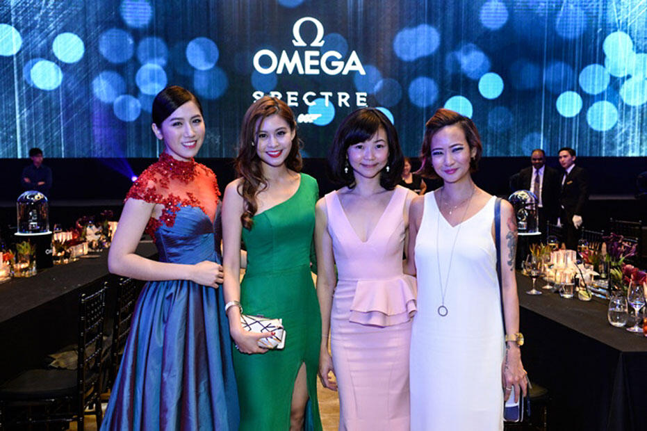 Omega-Bond-Spectre-Dinner-at-Grand-Hyatt-KL-Pauline-Tan,-Denise-Camillia,-Catherine-Lee-&-Joyce-Wong