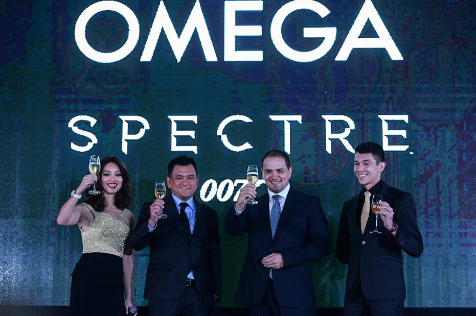Omega-Bond-Spectre-Dinner-at-Grand-Hyatt-KL-Sarah Lian, Joseph A. Boudville, Jose De Cardoso & Will Quah celebrate 20 Years of OMEGA and James Bond with a toast_2