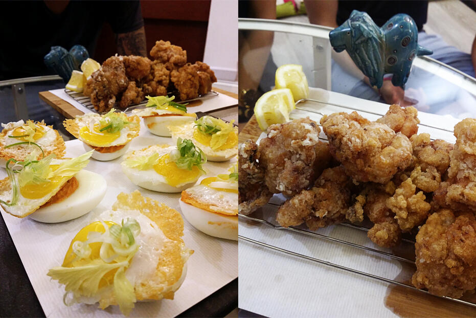 5. May - food-38 spicy deviled eggs kaarage chicken