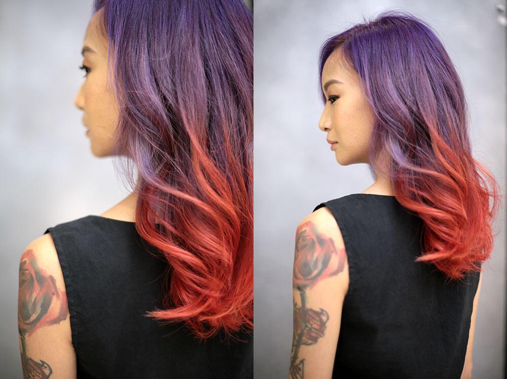 by-Ikwan-Hamid---Joyce-Wong-centro-hair-salon-malaysia-2-purple-red-hair-unicorn